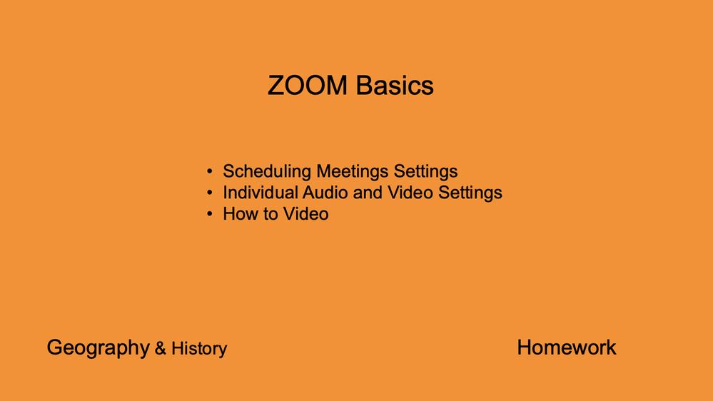 Zoom Basic