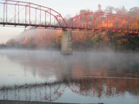 Foggy morning on Fair Oaks Bridge