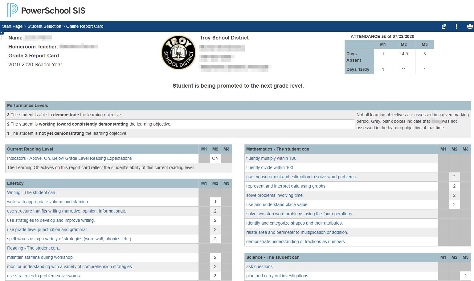 Standards Based Report Card Powerschool Community