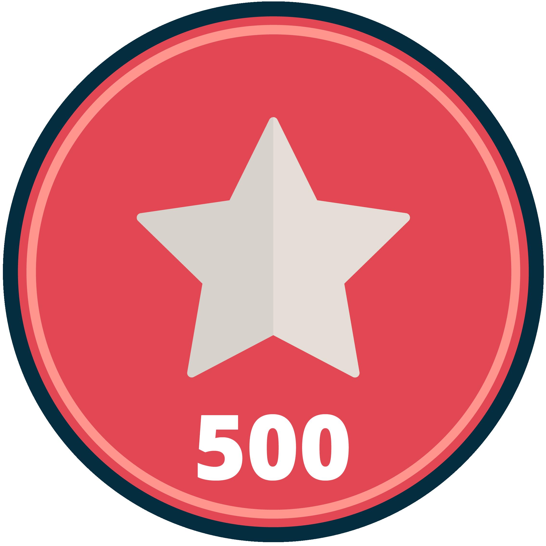 Five-hundredth Kudos