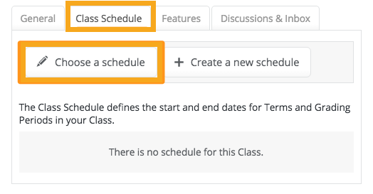 how do i create a class schedule for my gradebook powerschool